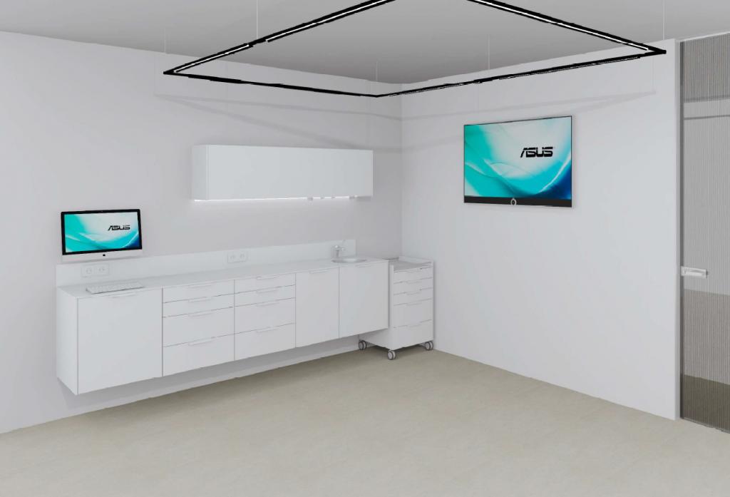 diseño de mobiliario clínico