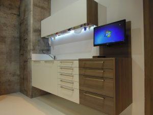mobiliario gabinete aspecto madera