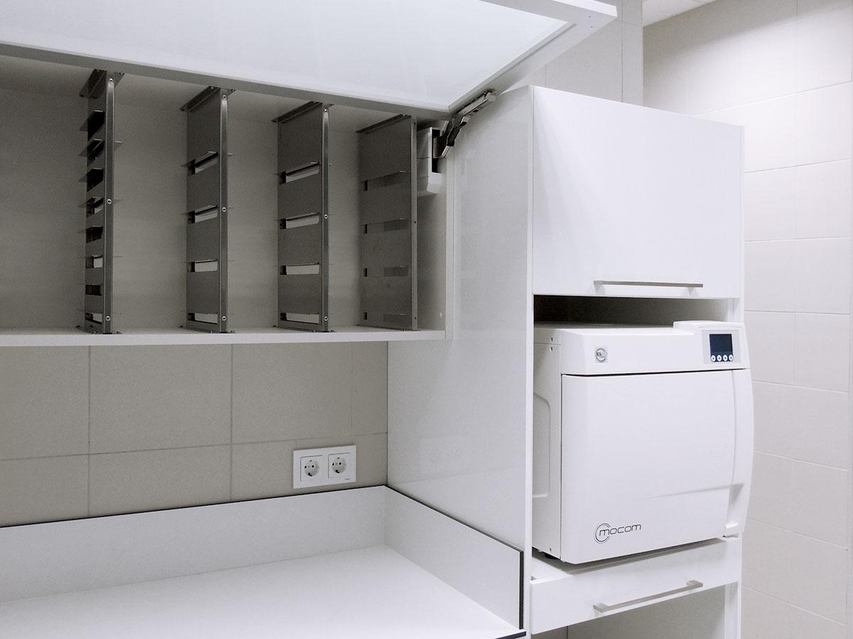Mobiliario para sala de esterilización